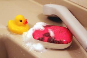 デコパージュ石鹸:お風呂で使ってみよう♪