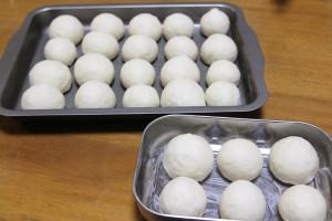 「ちぎりパン」冷蔵庫で発酵してみます。