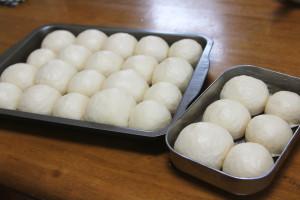 「ちぎりパン」を冷蔵庫発酵で。翌朝、膨らんでました♪