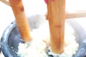 育児サークルのお餅つきに参加してきました。