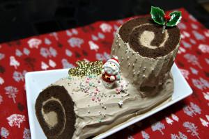 初挑戦★シフォン生地でロールケーキ♪