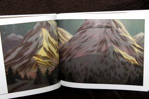 絵本:急行「北極号」。パステルで描かれたという美しい絵。