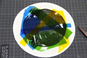 低学年の自由研究に★紙皿とカラーセロファンで、ステンドグラスのような飾り♪ その8