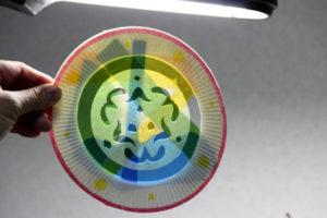 低学年の自由研究に★紙皿とカラーセロファンで、ステンドグラスのような飾り♪ その14