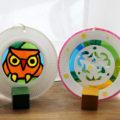 1日でできる、小学校低学年の自由研究(工作)♪ 紙皿&カラーセロファンでキレイな飾り、まずは試作(^^)